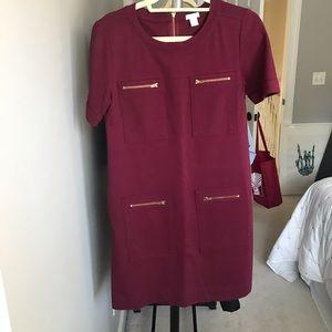 Jcrew Factory 4-Pocket Zip Ponte Knit Shift Dress